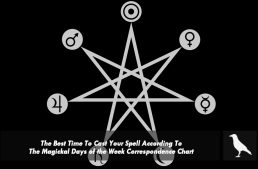 The Best Time To Cast Your Spell According To The Magickal Days of the Week Correspondence Chart